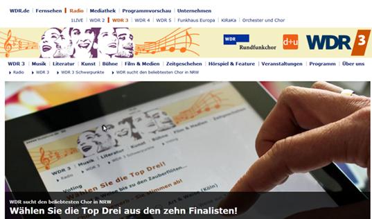 Grafik vom WDR-Fernsehen