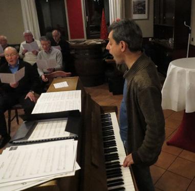 Pavel Brochin am Klavier
