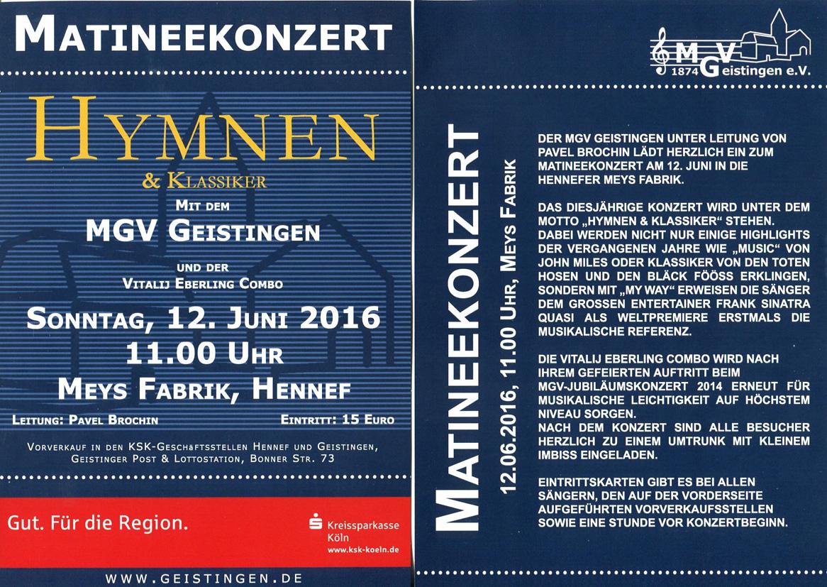 Einladung Matinee-Konzert