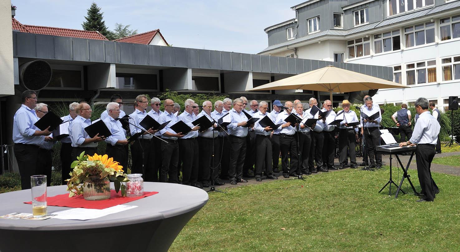 Der Chor im Kurpark Hennef