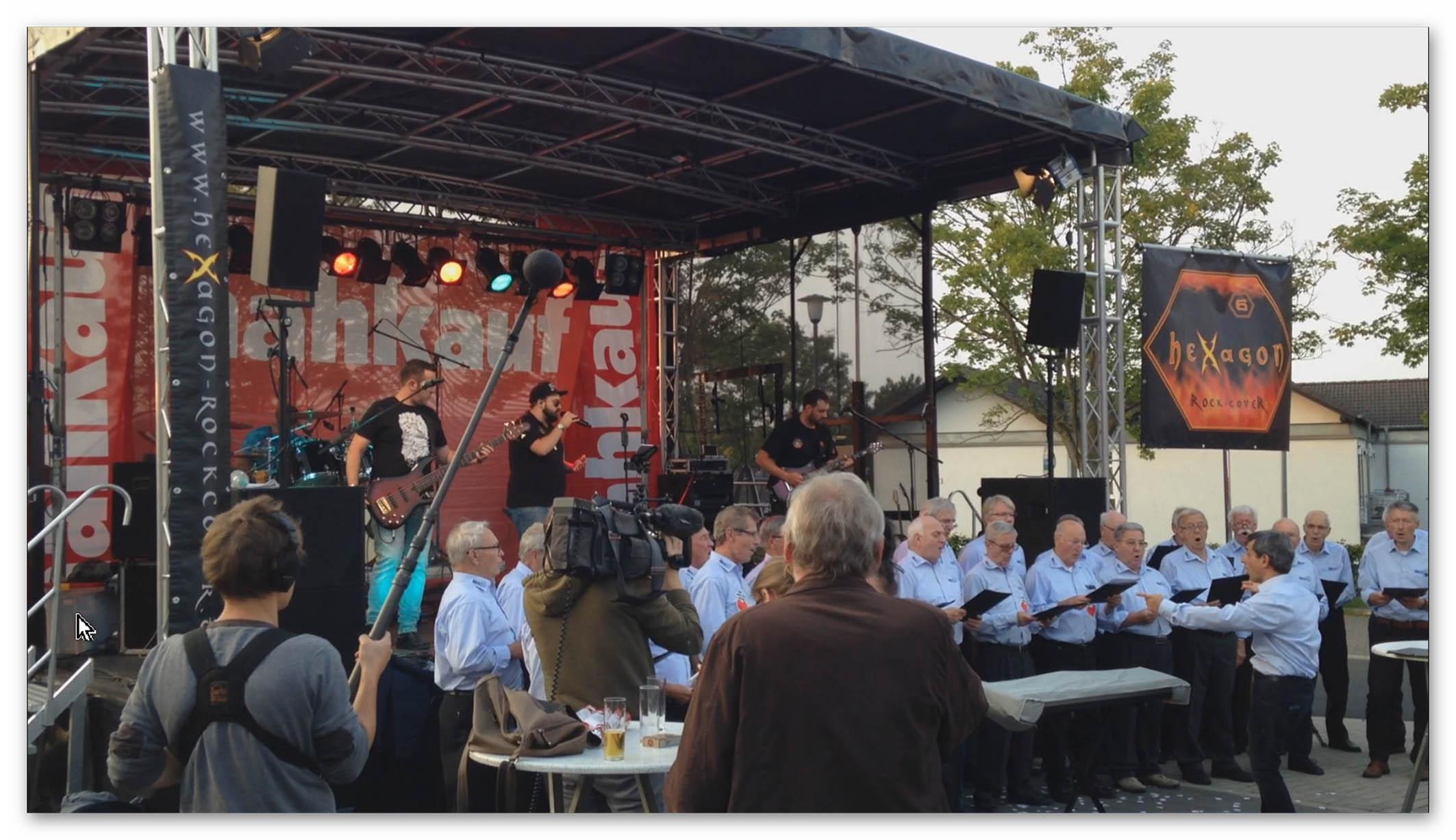 MGV Geistingen mit Rockband HEXAGOD