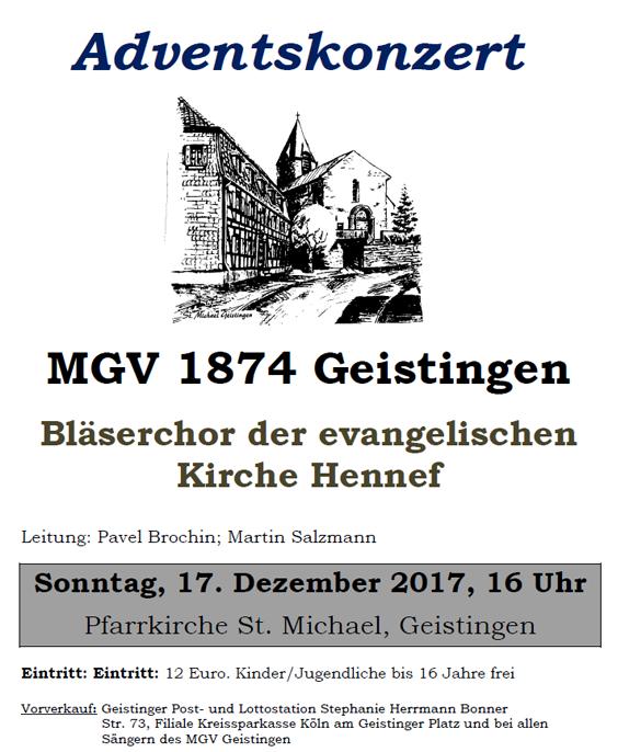 Plakat für Adventskonzert