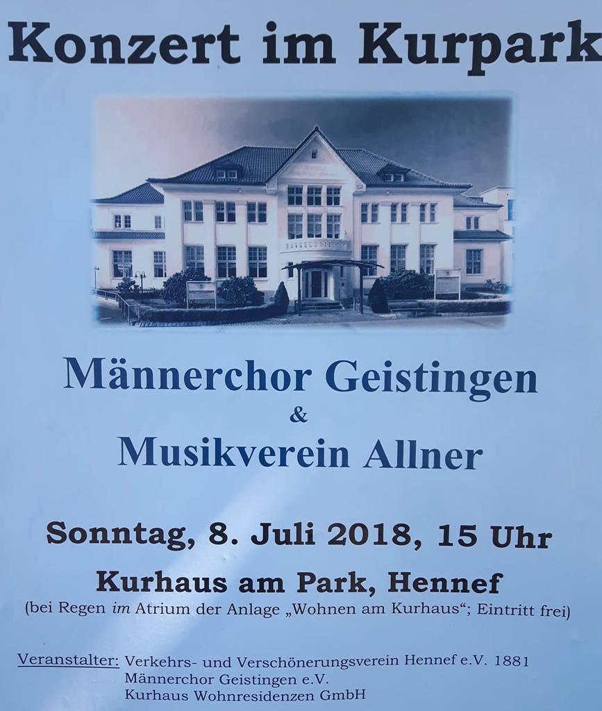 Plakat zum Kurparkkonzert